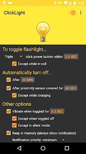 ClickLight Flashlight Screenshot 1