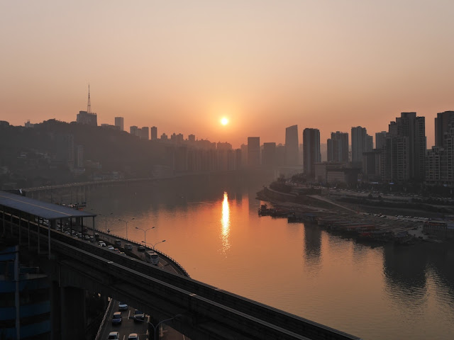 sunset in Chongqing