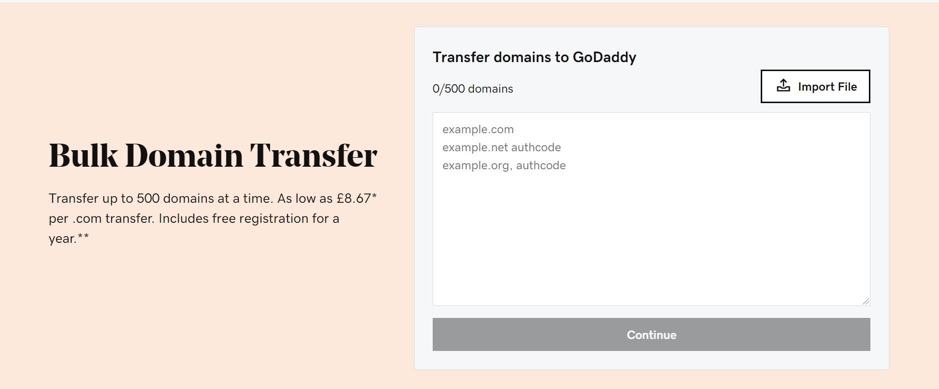Transfer Domain To GoDaddy