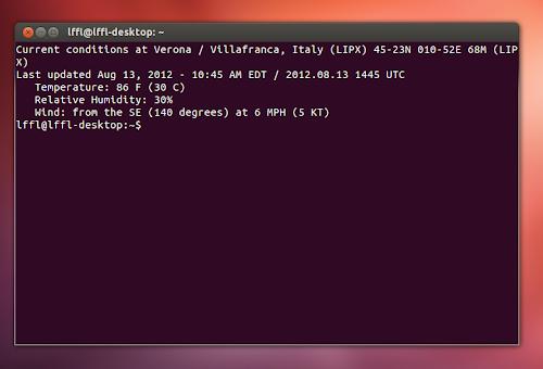 Ubuntu, le condizioni meteo ad ogni avvio del nostro terminale,