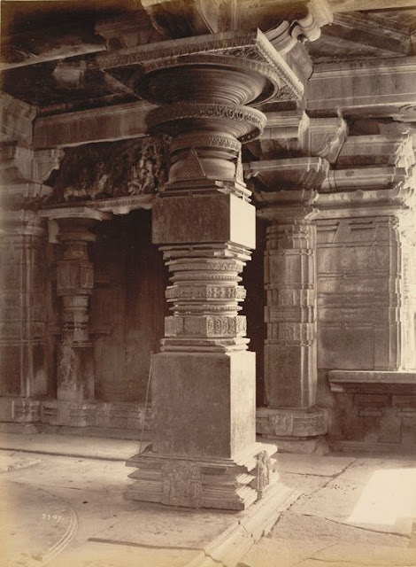Pillar details of Hanumkonda Temple (1885) — in Warangal, Andhra Pradesh.