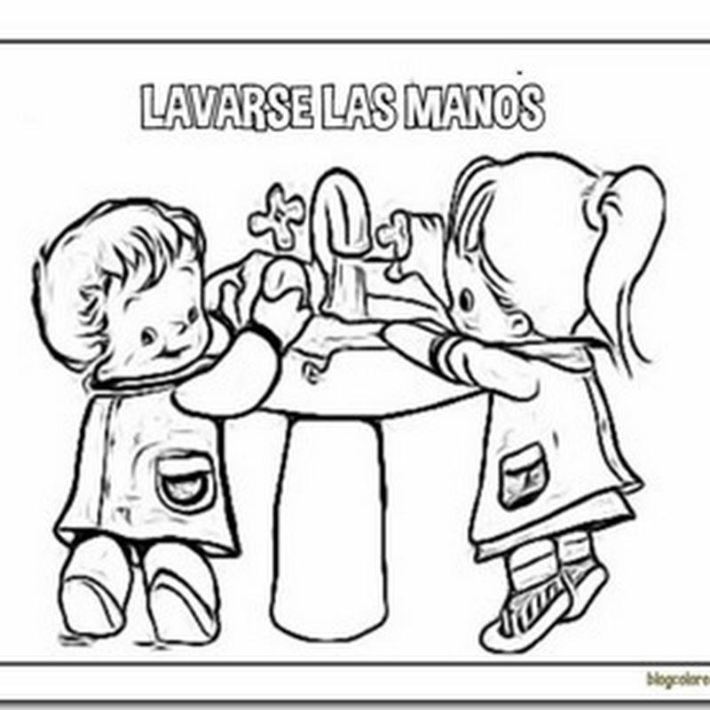 Colorear lavarse las manos
