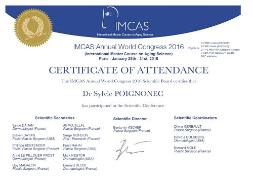 IMCAS Annual World Congress 2016 (International Master Course on Aging Science)