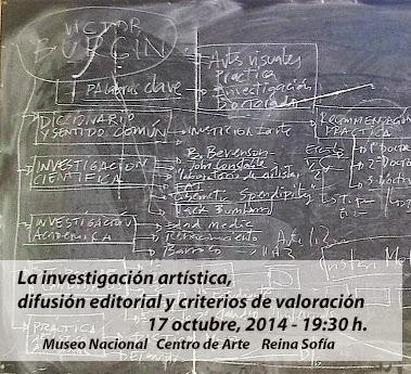 La investigación artística, difusión editorial y criterios de valoración