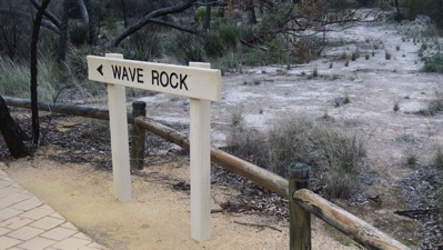 Wave Rock Sign