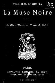 Cover of Stanislas de Guaita's Book La Muse Noire (1883,in French)
