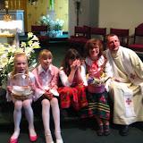 4.23.2011 Święcenie pokarmów w Wielką Sobotę w kościele MOQ, w Norcross. Typowe koszyki wielkanocne - IMG_7870.JPG