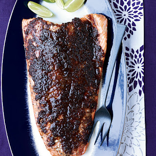 Slow-Roasted Salmon with Tamarind, Ginger and Chipotle.