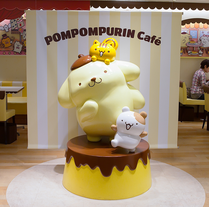 photo of a character statue inside the cafe