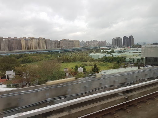 The view from Taoyuan Airport MRT in Taiwan