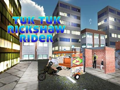 Tuk Tuk Rickshaw Rider - náhled
