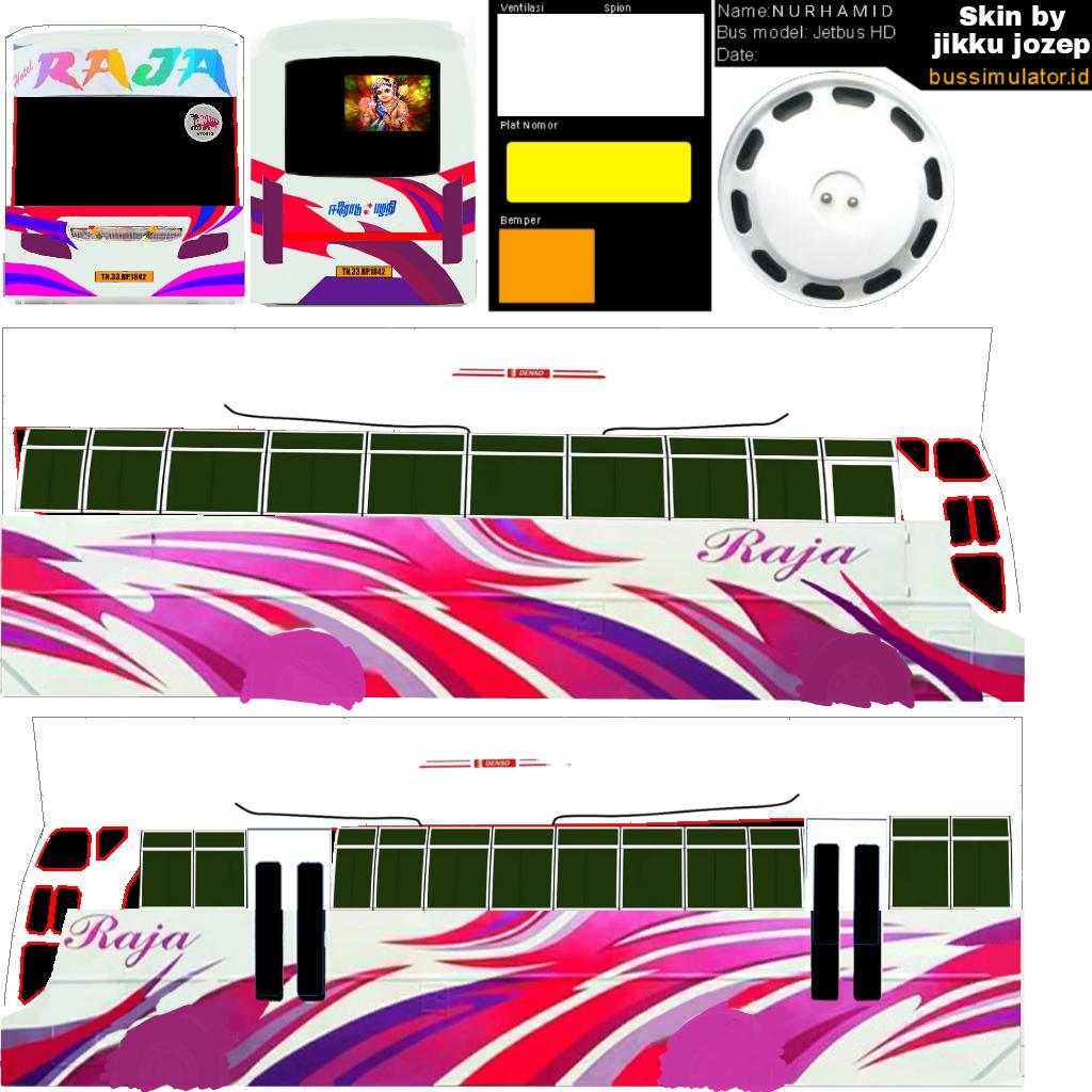 Bussid kerala: Raja tamilnadu bus livery