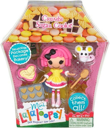 mini Lalaloopsy Crumbs Sugar Cookie en su caja