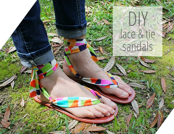 diy lace n tie sandals