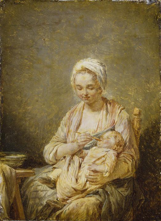 Nicolas-Bernard Lépicié - A Mother Feeding her Child