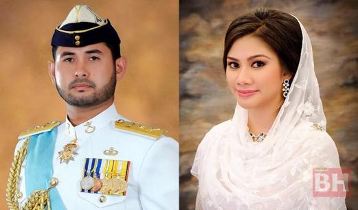 gambar perkahwinan tunku mahkota johor dan che puan khaleeda bustaman.jpg