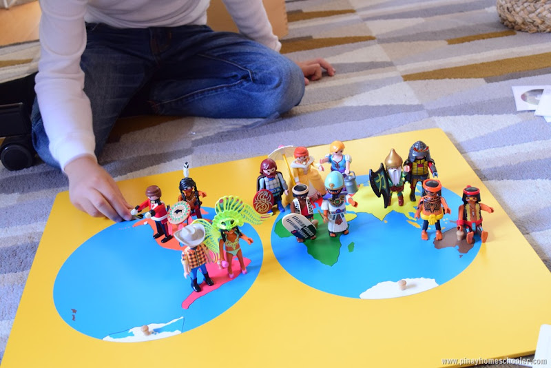 Continent Matching Activity with Toy Figures