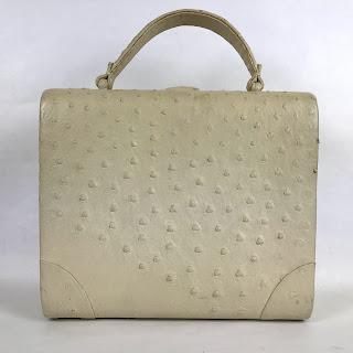 Nettie Rosenstein Vintage Ostrich Handbag