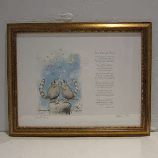 Ronald Searle X Robert Forbes Illustrated Poetry Lithograph - First, Last and Forever