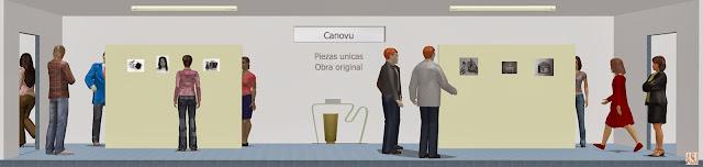 Sala de exposición virtual de pinturas de Canovu