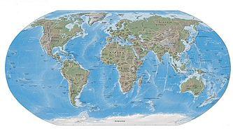 Φυσιογραφικός χάρτης της Γης