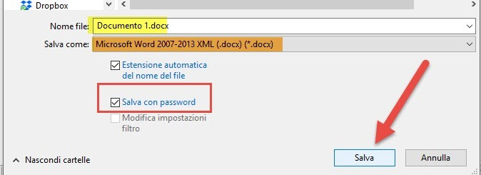 password libre office