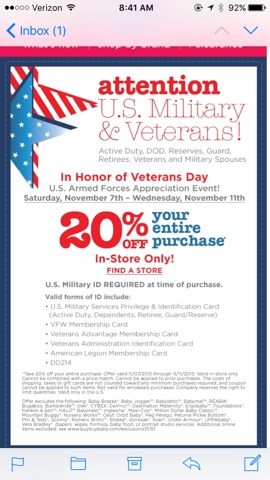 Discounts Amp Deals 4 Military 20 Off Entire Purchase At