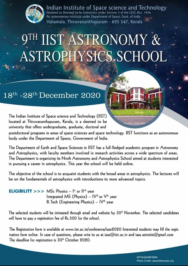 IIST ASTRONOMY AND ASTROPHYSICS SCHOOL