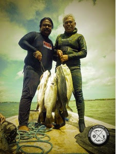 Spearfishing trip for Barramundi In south Bali Indonesia