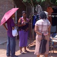 umbrellas in Mochudi near the mall