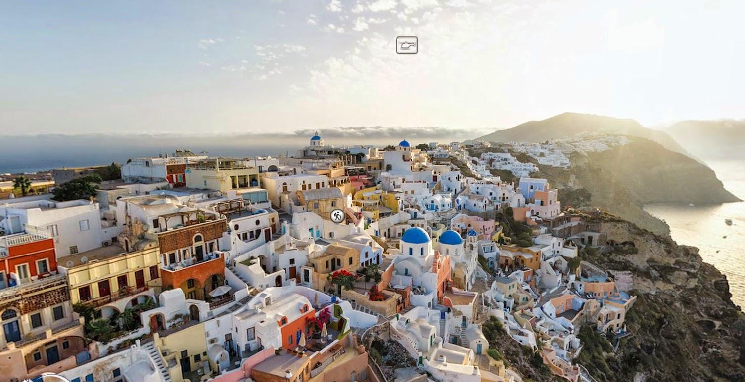Отдых в Греции, Виртуальный тур, Санторини, Греция,
