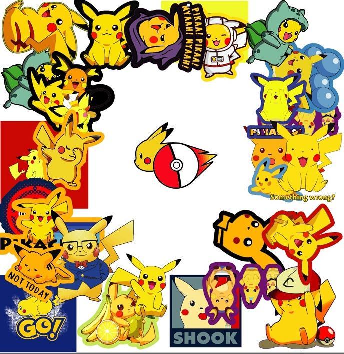 sticker hình dán pikachu pokemon