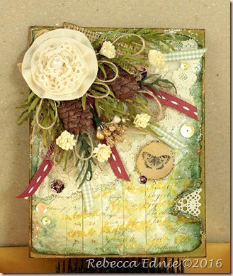 shabby fall card
