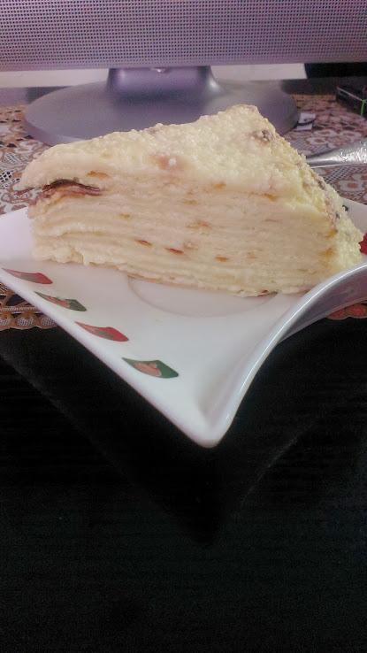 Торт Белый наполеон мокрый (мастер-класс)