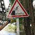 36e vakantiefietserstickertje. Dit bord hebben wij nog nooit eerder met een fiets gezien.