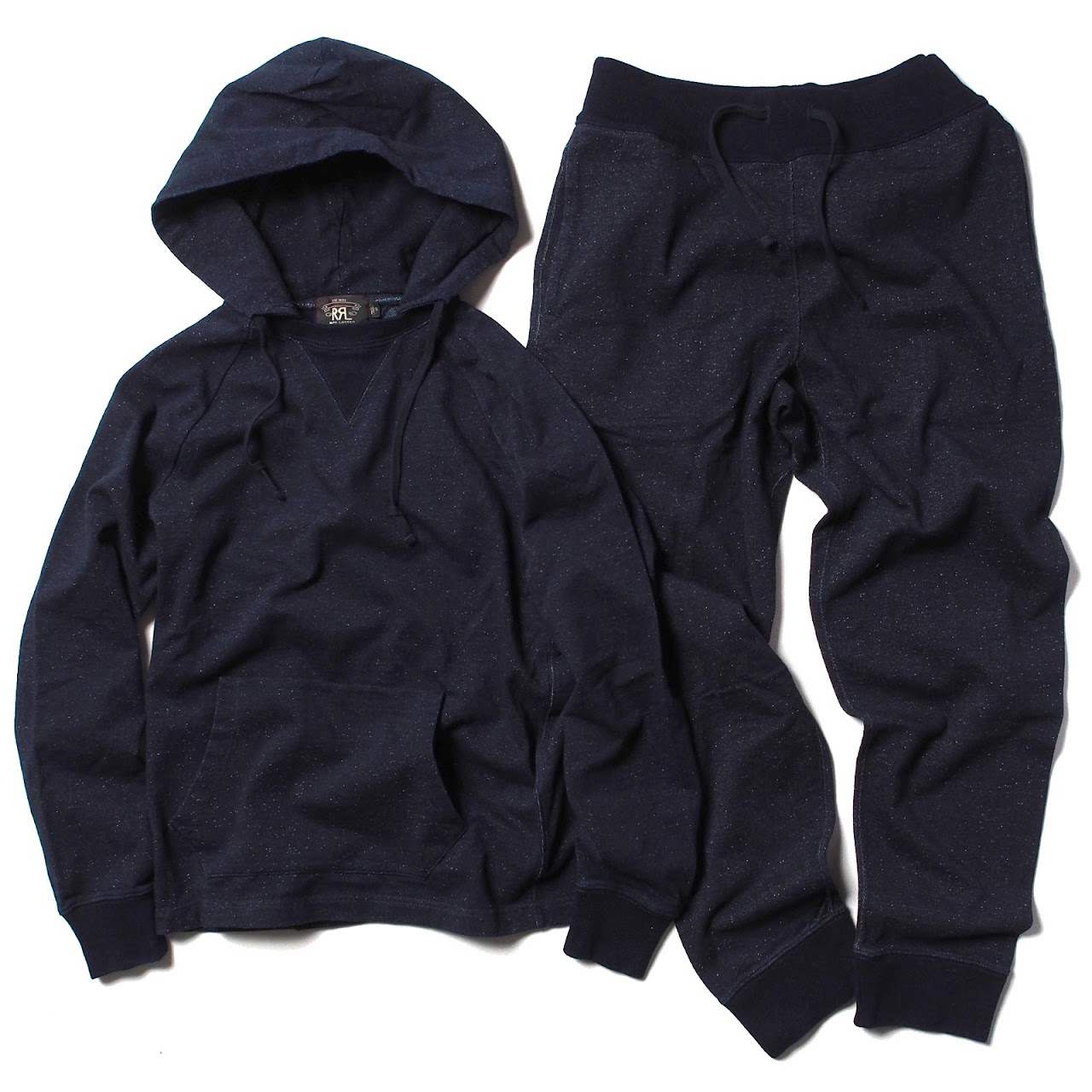 RRL / Indigo Slub Cotton Hoodie , Indigo Cotton Terry Jogger Pant