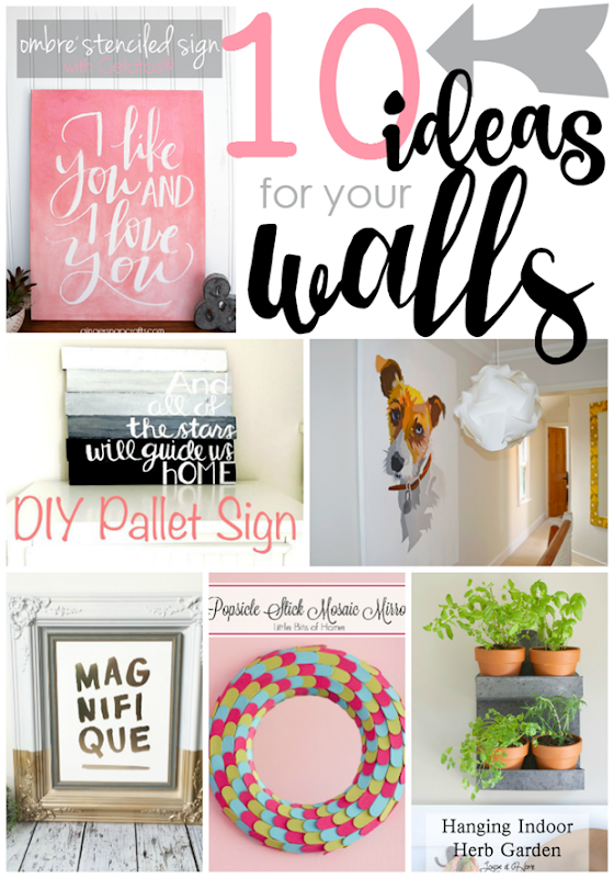 10 Ideas for Your Walls at GingerSnapCrafts.com #forthehome #wallart