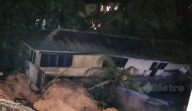 28 keluarga yang terjejas akibat tanah runtuh di Kemensah Height