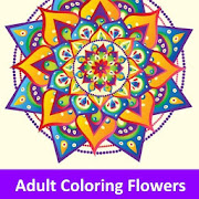 Adult Coloring Flowers : Adult Coloring Book