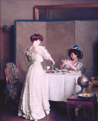 William McGregor Paxton - Tea Leaves 1909