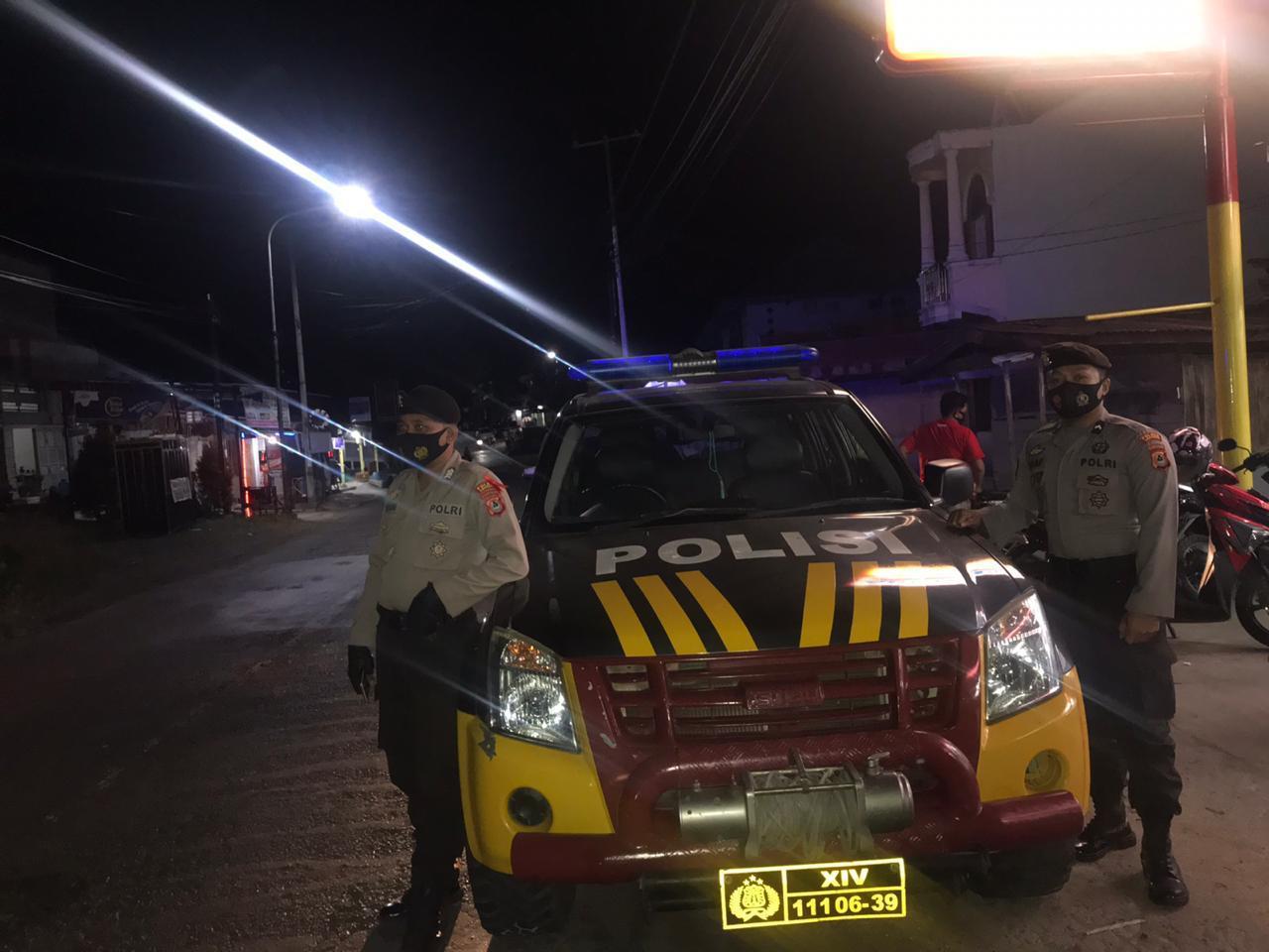 Beri Rasa Aman dan Nyaman Bagi Warga, Polres Soppeng Gelar Blue Light Patrol