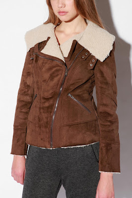 Sweet Deal of the Day: Sparkle & Fade Faux Shearling Moto Jacket