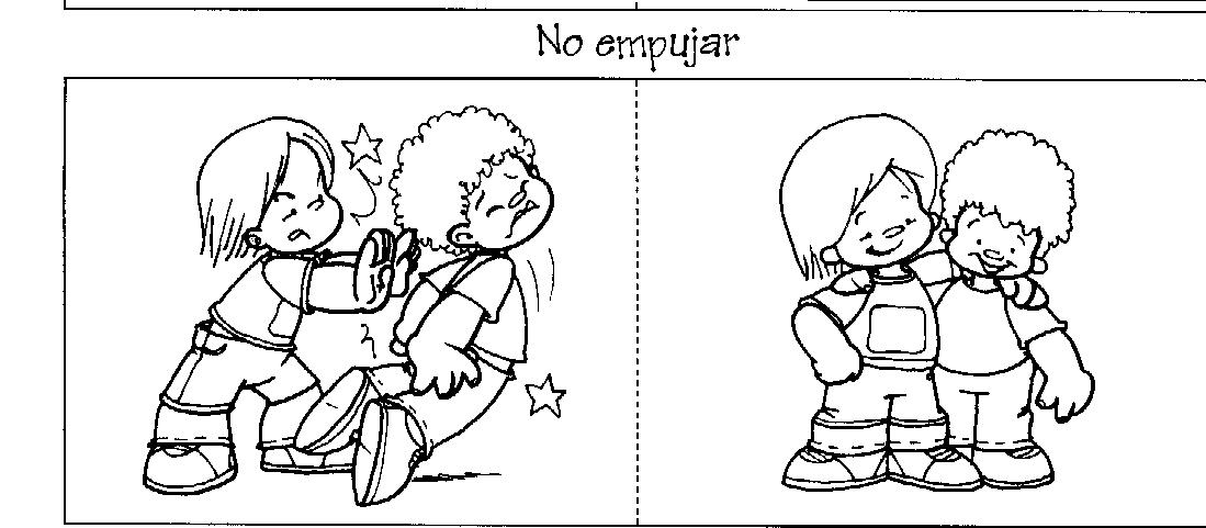 PARA COLOREAR DE NO EMPUJARSE - Imagui