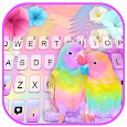 Parrot Love Keyboard Background icon