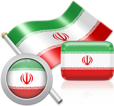 Iranian flag icons pictures collection