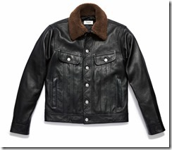 Icon Leather Jean Jacket in Black (59610)