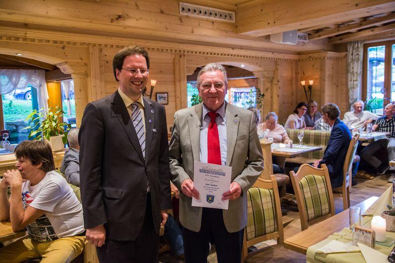 """""""70 Jahre TTC Straubing"""": Ehrung für 50-jährige Vereinszugehörigkeit"""