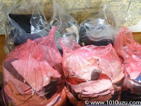 処分する服を燃えるゴミとリサイクルに分類