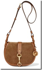 Michael Kors leather trimmed suede shoulder bag