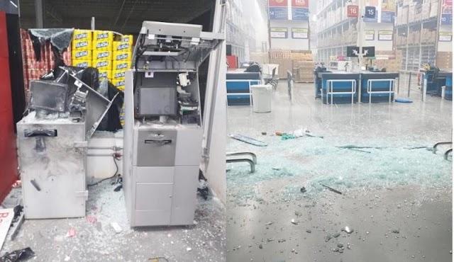 Quadrilha rende segurança e explode caixas eletrônicos na zona leste de Teresina